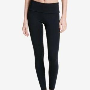 Calvin Klein Fold Over Waist Leggings Black